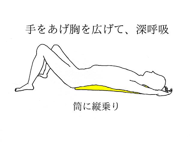 肩こり解消、胸椎エクササイズ